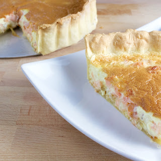 Smoked Salmon Fontina Quiche