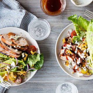 BBQ Chicken Salad with Tomatoes & Corn.