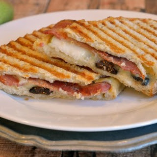 Bacon, Pear and Fig Panini.