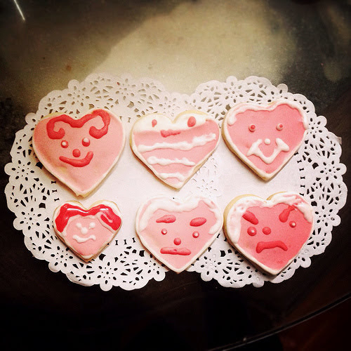valentine's day, valentine, cookie, sugar cookies, royal icing, egg white icing, decorated