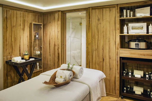Get unstressed with a massage in the spa of Uniworld's S.S. Sao Gabriel.