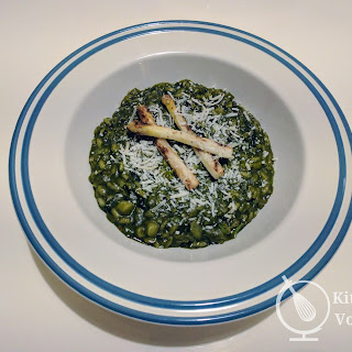 Spinach and Asparagus Risotto.
