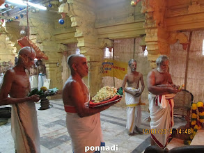 Photo: offerings for perumAL and thAyAr