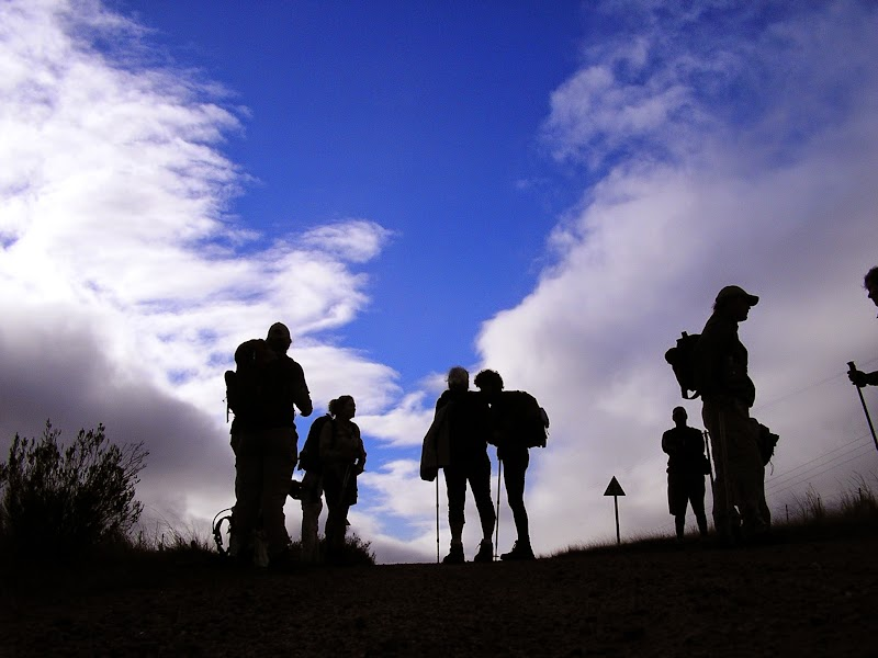 Mega-hiker silhouettes