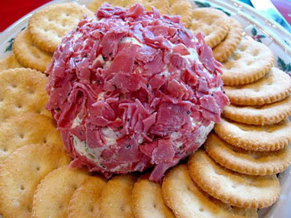 Chipped Beef Cheeseball Recipe  Just A Pinch Recipes