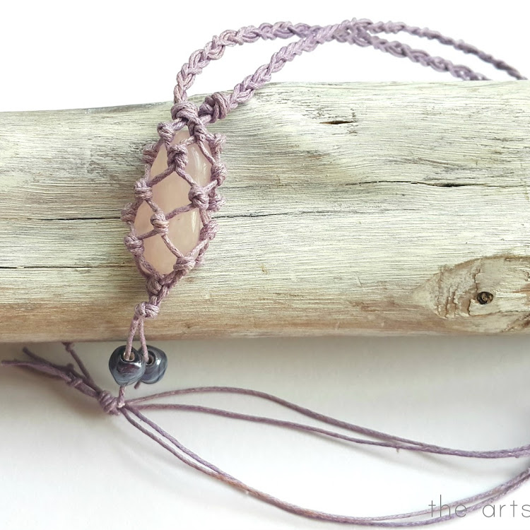 Rose Quartz - Boho Wrapped Crystal Necklace by The Artsy Craftsy