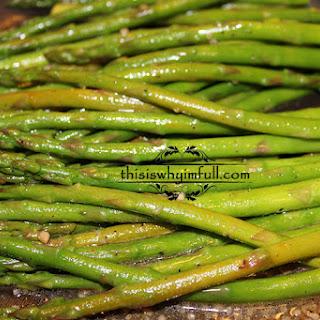 Lemon Garlic Parmesan Asparagus