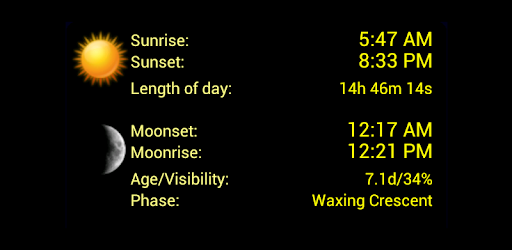 Sunrise Sunset Calendar 2019 LunaSolCal Mobile   Apps on Google Play