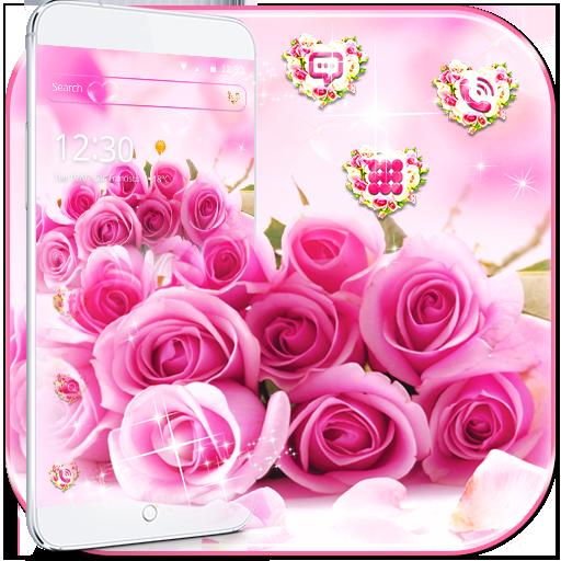 Pink Rose Romantic Love Theme