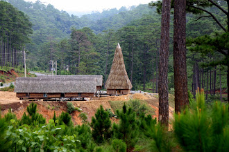 Photo: Year 2  Day 16  - Bahnar House on the Way to Dalat