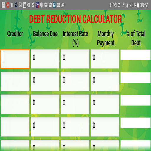 Financial Freedom Planner Free Android Apps on Google Play – Debt Reduction Calculator