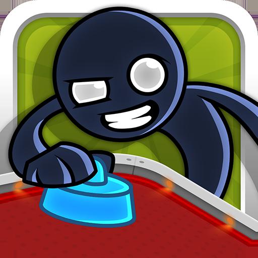 エアホッケー:繊細なスティックマン 動作 App LOGO-硬是要APP