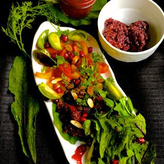 Black Rice Salad & Cranberry Orange Dressing.