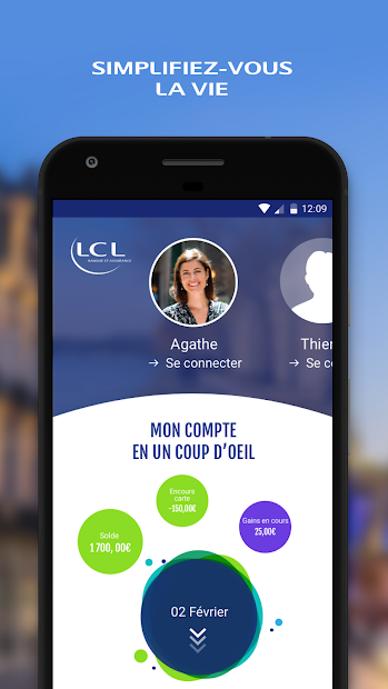 Mes Comptes - LCL Android App Screenshot
