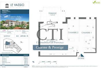 Appartement 3 pièces 77,34 m2