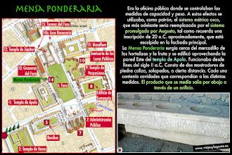 Photo: 18: La Mensa Ponderaria, cerca del mercadillo de las hortalizas y la fruta, se edificó aprovechando la pared Este del templo de Apolo.