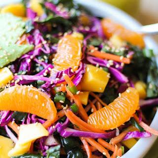 Crunchy Kale Mandarin Salad with Lemon Poppy Seed Dressing
