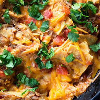Pulled Pork Enchilada Skillet