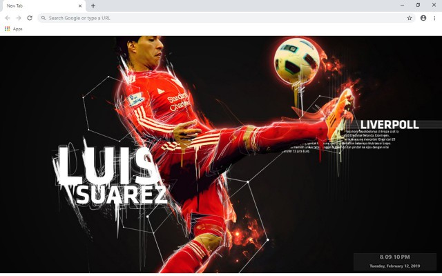 Luis Suárez New Tab & Wallpapers Collection