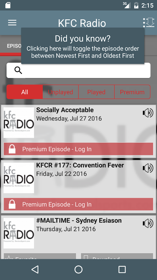 KFC Radio- screenshot