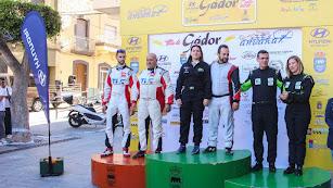 El podio de los ganadores del II RallyeCrono Villa de Gador