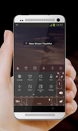 無料个人化Appのクリアブラウン TouchPal 記事Game