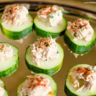 Cucumber Tuna Bites.