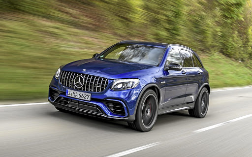 The aggressive looks of the Mercedes-AMG GLC63 S are not deceiving. Picture: DAIMLER