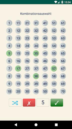 Keno DE  Statistik von Kombinationen 1.1.2 1