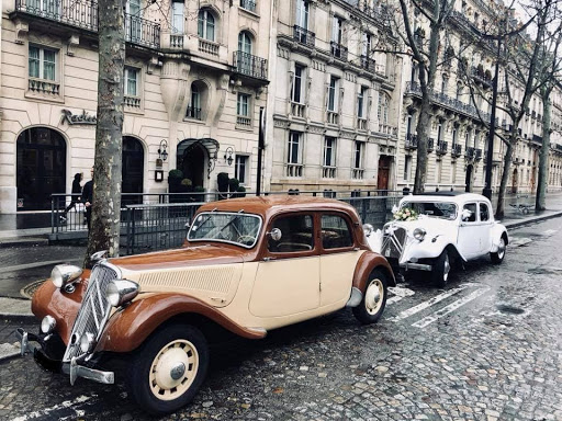 hidden side of Paris during a private tour of the city in a vintage french car