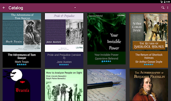 Screenshot of LibriVox Audio Books Supporter