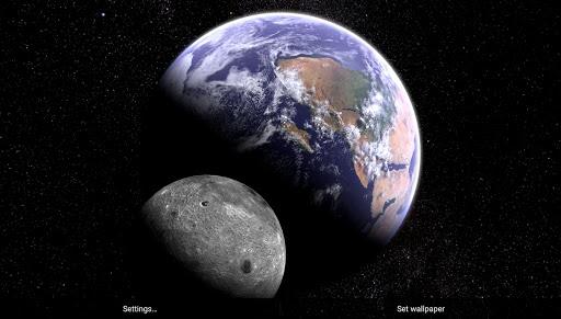 Earth & Moon in HD Gyro 3D Parallax Live Wallpaper 2.8 Screenshots 4