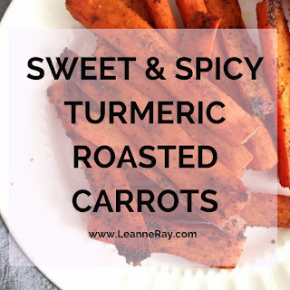 Sweet and Spicy Turmeric Roasted Carrots.