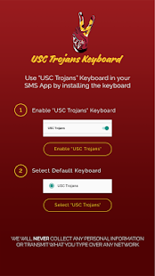 USC Trojans Keyboard - náhled