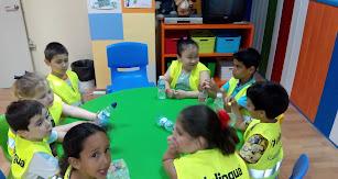 Un grupo de niños durante una clase en Inlingua Almería.