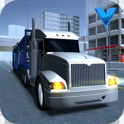 模拟のビッグ自動車輸送トラックの3D LOGO-記事Game