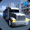 Transporte de carro Big truck icon
