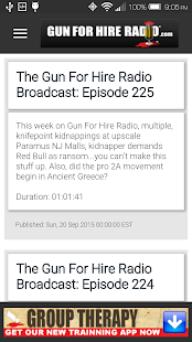 Gun For Hire Radio- screenshot thumbnail