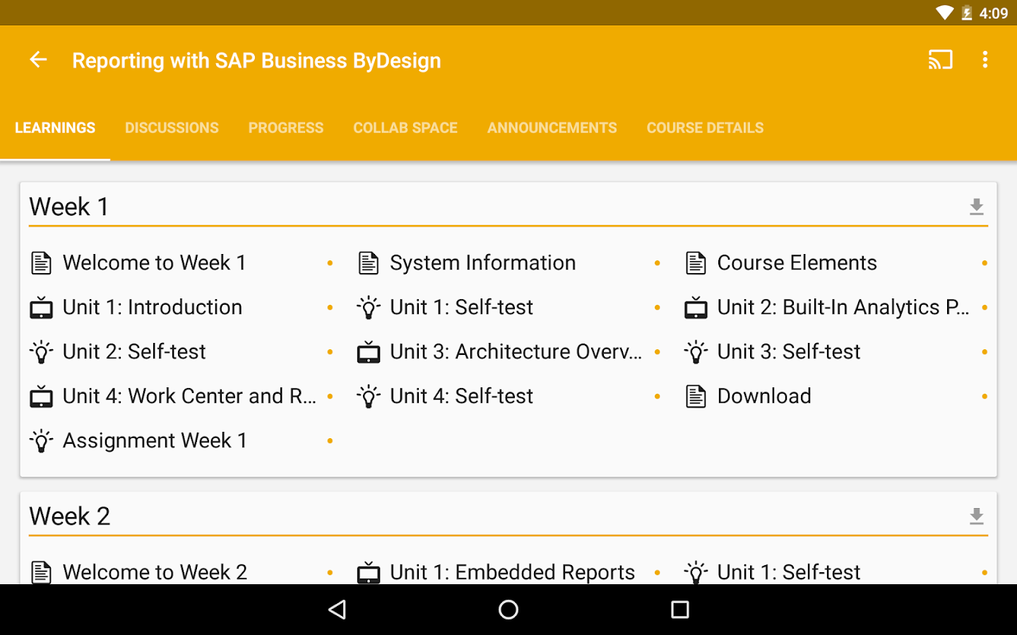 openSAP- screenshot