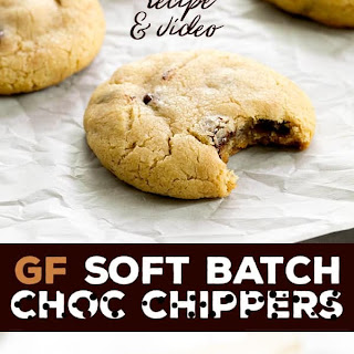 Gluten Free Soft Batch Chocolate Chip Cookies.