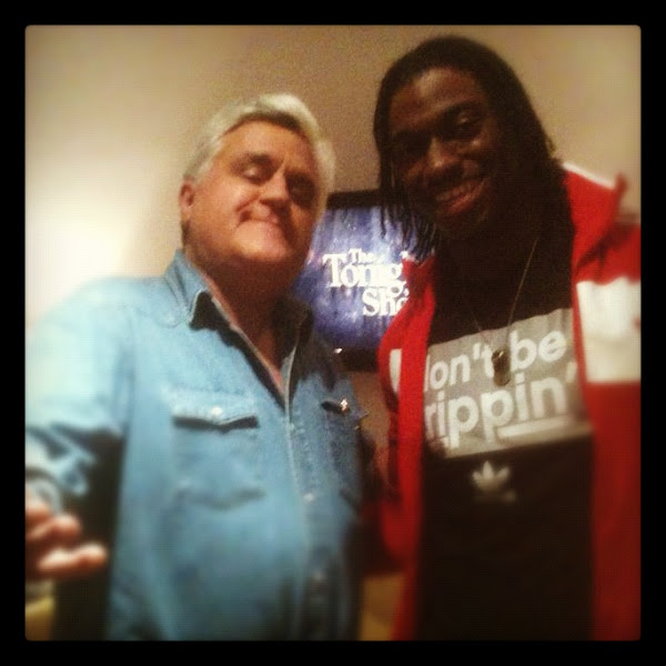 Photo: Backstage at the Tonight Show with RGIII and Jay Leno.