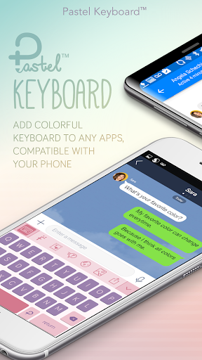 Pastel Keyboard Theme Color -  Add colorful design 이미지[1]