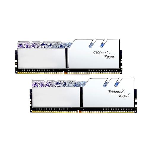 Bộ nhớ/ Ram G.Skill Trident Z Royal RGB 16GB (2x8GB) DDR4 3600 (F4-3600C18D-16GTRS) (Silver)