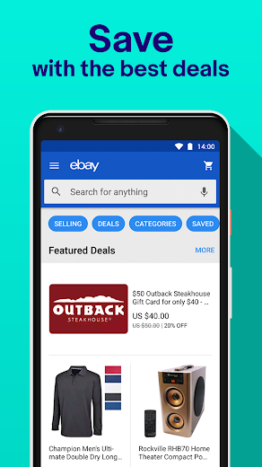 Screenshot 1 for eBay's Android app'