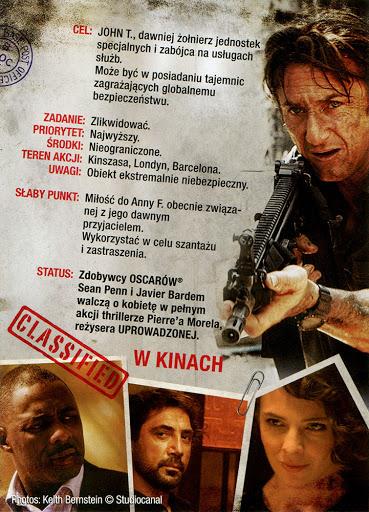 Tył ulotki filmu 'Gunman: Odkupienie'