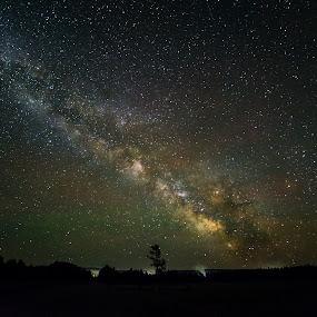 Milky way rising by Aditi Dinakar - Landscapes Starscapes ( canon, astro photography, astro, yellowstone national park, night sky, nightscape, milky way )