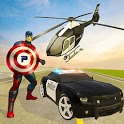 Super Captain Hero Flying Robot Rescue Mission icon