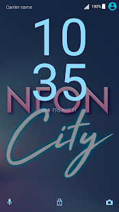 Neon City Xperia™ Theme Screenshot