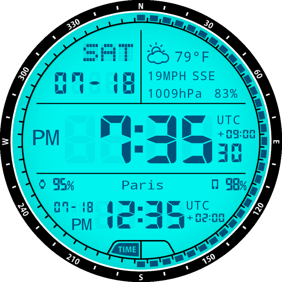 M01 WatchFace for Android Wear- screenshot