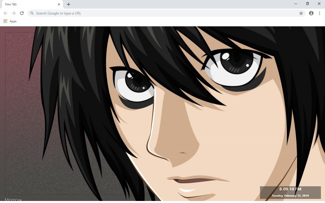 L Lawliet New Tab & Wallpapers Collection